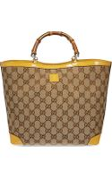 Gucci Monogramme Bamboo Tote - Lyst