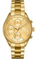 Lacoste Womens Philadelphia Gold Ion-plated Stainless Steel Bracelet Watch 39mm - Lyst