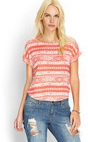 Forever 21 Boxy Tribal Print Tee - Lyst
