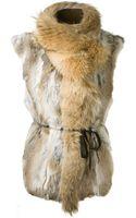 Isabel Marant Natural Rabbit Fur Astia Gilet - Lyst