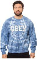 Obey The Collegiate 2 Crew Neck - Lyst