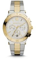 Michael Kors Wyatt Silver and Goldtone Stainless Steel Watch - Lyst