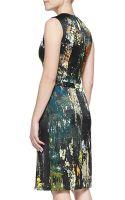 J. Mendel Sleeveless Printed Silk Dress - Lyst