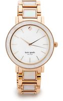 Kate Spade Gramercy Grand Watch Rose Gold - Lyst