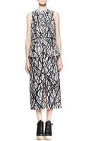 Proenza Schouler Printed Layered Peplum Dress - Lyst