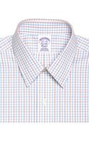 Brooks Brothers Supima Cotton Noniron Regular Fit Point Collar Broadcloth Double Tattersall Dress Shirt - Lyst