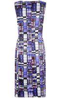 Armani Multi Check Silk Dress - Lyst