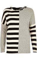 River Island Black Contrast Stripe Long Sleeve Top - Lyst