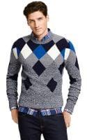 Tommy Hilfiger Marled Argyle Sweater - Lyst
