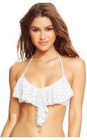 Roxy Crochet Flounce Bikini Top - Lyst
