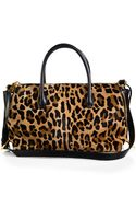 Miu Miu Cavallino Leopardprint Calf Hair Small Bowler Bag - Lyst