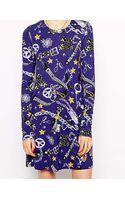 Love Moschino Dress in Chain Print - Lyst