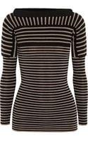 Burberry Prorsum Contrastknit Striped Wool Sweater - Lyst