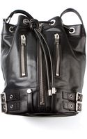 Saint Laurent Black Leather Rider Bag - Lyst