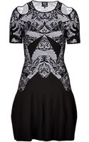 McQ by Alexander McQueen Toile Print Cocktail Dress with Cut Outs - Lyst
