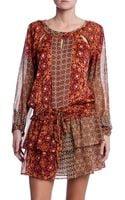 Gypsy05 Girth Printed Silk Mini Dress - Lyst