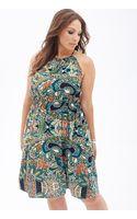 Forever 21 Paisley Halter Midi Dress - Lyst