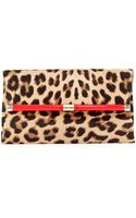 Diane Von Furstenberg 440 Calf Hair Envelope Clutch Bag Leopard - Lyst