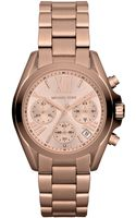 Michael Kors Womens Mini Bradshaw Stainless Steel Bracelet Watch - Lyst
