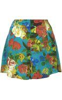 Topshop Silk Botanical Flippy Shorts By Boutique - Lyst