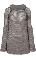 Philosophy Ribbed Roll Neck Jumper with Mesh Panel - Lyst
