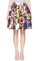 Ms Min Floral Print Wool-cashmere Skirt - Lyst