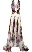 Roberto Cavalli Printed Silk Chiffon Gown - Lyst