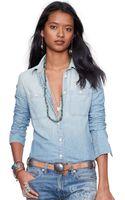 Denim & Supply Ralph Lauren Slimfit Chambray Shirt - Lyst
