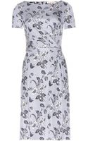 Tory Burch Edna Silk Stretchjersey Dress - Lyst