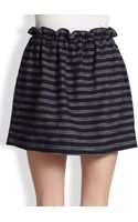 Marc By Marc Jacobs Dalea Striped Tweed Paperbagwaist Skirt - Lyst