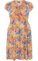 Samya Paisley Patchwork Fit and Flare Dress - Lyst