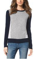 Michael Kors Color-block Cashmere Sweater - Lyst
