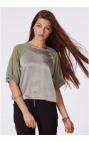 Missguided Astrid Silk Feel Shell Top Chiffon Sleeves  - Lyst