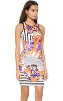 Clover Canyon Floral Discs Dress Orange - Lyst