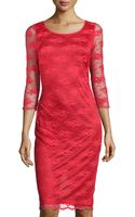 Alexia Admor Floral-lace Fitted Dress - Lyst
