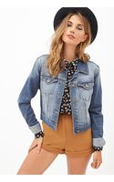 Forever 21 Faded Denim Jacket - Lyst
