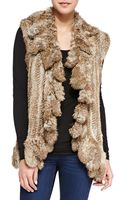 525 America Ruffled Openfront Fur Vest - Lyst
