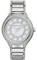 Michael Kors Kerry Stainless Steel Motherofpearl Glitz Bracelet Watch - Lyst