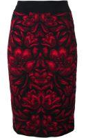 Alexander McQueen Jacquard Skirt - Lyst
