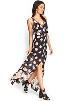 Forever 21 Rose Lace Maxi Dress - Lyst