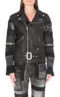 Junya Watanabe Patchwork Sleeve Leather Jacket - Lyst