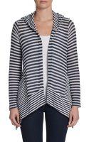 Splendid Striped Hooded Cardigan - Lyst