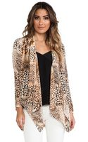 Twelfth Street By Cynthia Vincent Drape Front Jacket - Lyst