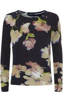Weekend By Maxmara Floral Wool Sweater - Lyst