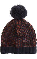 J.Crew Honeycomb Pom-pom Hat - Lyst