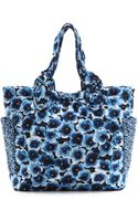 Marc By Marc Jacobs Pretty Medium Tate Tote Skipper Blue Multi - Lyst