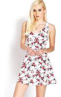 Forever 21 Garden Girl Fit Flare Dress - Lyst