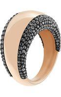 Swarovski Pebble Rose Goldtone  Crystal Ring - Lyst