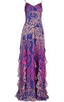 Matthew Williamson Wing Lace Chiffon Waterfall Gown - Lyst