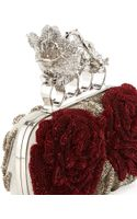 Alexander McQueen Beaded Flower Knuckle Box Clutch Bag - Lyst
